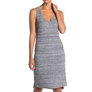 Susina Marled Midi Sweater Knit Navy Mix Dress